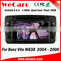Wecaro WC-MB7507 Android 4.4.4 car dvd player indash radio for Benz Vito w638 2004 2005 2006 Steering Wheel Control