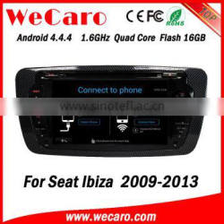 Wecaro WC-SI7004 Android 4.4.4 car stereo 1024 * 600 for seat ibiza android dvd WIFI 3G 16GB Flash 2009-2013
