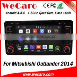 """Wecaro 6.2"""" Android 4.4.4 car audio system for mitsubishi outlander 2014 car dvd player WIFI 3G Bluetooth"""