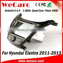 Wecaro WC-HU8028 Android 4.4.4 stereo double din for hyundai elantra car entertainment system audio system 2011-2013