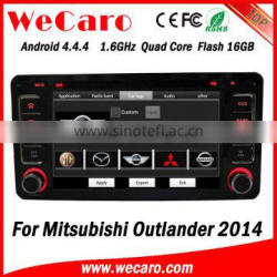 """Wecaro 6.2"""" Android 4.4.4 car audio system car dvd player for mitsubishi outlander 2014"""