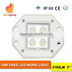16W 3inch mini size led driving light shipping led work light for truck spot beam 4x4 car accessories