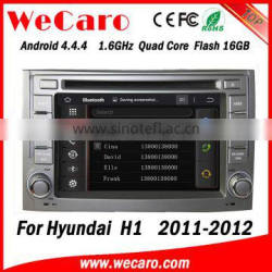 Wecaro WC-HH6224Android 4.4.4 car multimedia system in dash for hyundai h1 car dvd gps android bluetooth 2011 2012