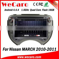 Wecaro WC-NM7043 Android 4.4.4 multimedia system touch screen for nissan march car stereo radio gps GPS