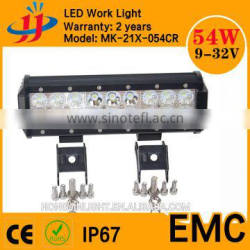 Wholesale 2016 4D new design IP67 10 inch 54w atv utv dual row solar powered led light bar