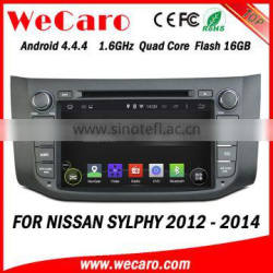 Wecaro WC-NU8053 Android 4.4.4 car stereo 1024 * 600 for nissan sylphy car multimedia system WIFI 3G GPS 2012 2013 2014