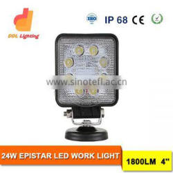 24W auto led working light LED Work Light, Automobile Square 24w led work light For car/motorcycles/jeep