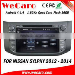 Wecaro WC-NU8053 Android 4.4.4 car dvd player touch screen for nissan sylphy car audio WIFI 3G mirror link 2012 2013 2014