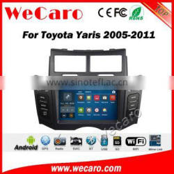 Wecaro WC-TY6221 android 5.1.1 car dvd for toyota yaris 2005-2011 gps navigation system radio multimedia WIFI 3G Playstore