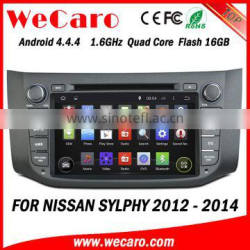 Wecaro WC-NU8053 Android 4.4.4 car dvd player quad core for nissan sylphy android car dvd stereo tv tuner 2012 2013 2014