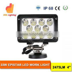 33W Square Tractor Led Working Lamp 4 inch Led Flood spot Beam Work light