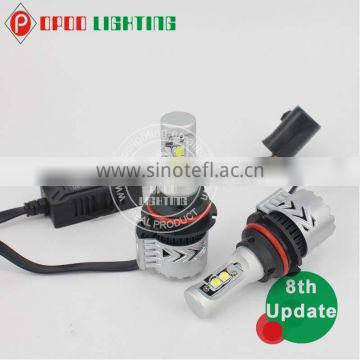High Performance 12V-24V G8 9006 Led Headlight, 6500K 6000lm 9006 Led Headlight