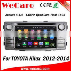 Wecaro Android 4.4.4 car stereo 2 din fo toyota hilux car audio player radio gps 2012 2013 2014 Quality Choice