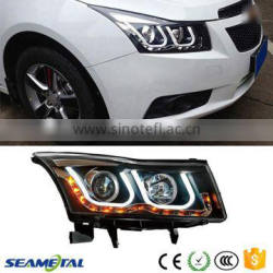 12V LED Car Headlights For Chevrolet Cruze 2009 2010 2011 2012 2013 2014 Head Light Quality Choice