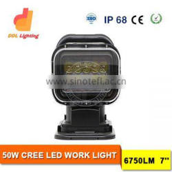 Muti-function 50w Magnetic Led Work Lights Remote Control Led Searchlight