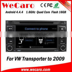 Wecaro WC-VU7006 Android 4.4.4 car multimedia system in dash for vw transporter t5 car dvd gps android bluetooth