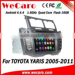 Wecaro WC-TY6221 Android 4.4.4 car multimedia system in dash for toyota yaris gps navigation system android 1080p 2005 -2011