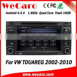Wecaro WC-VU7006 Android 4.4.4 car dvd player touch screen for volkswagen touareg car audio system android A9 cpu 2002 - 2010