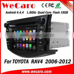Wecaro WC-TR7015 Android 4.4.4 car multimedia system in dash gps car dvd for toyota rav4 radio gps playstore 2006-2012 Quality Choice