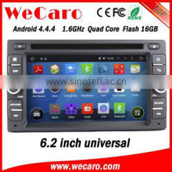 "Wecaro 6.2"" WC-2U6008 Android 4.4.4 car multimedia system 2 din car navigation system radio gps playstore"