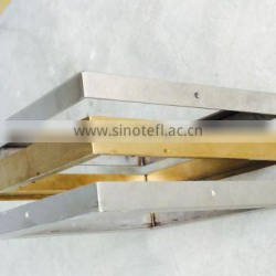 stainless steel frame with brass finishing