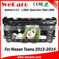 Wecaro WC-NT8061 Android 4.4.4 car dvd player touch screen for nissan teana 2014 radio gps GPS