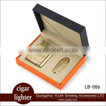 Guangzhou YuJia Smoking vintage style copper double flames cigar lighter