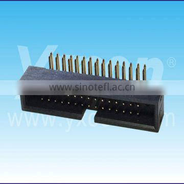 Dongguan Yxcon 1.27mm pitch right angle dual row box header connector