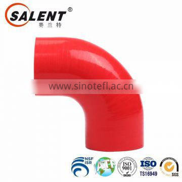 76mm high temperature reinforced automotive Red 90 degree silicone elbow hose rubber hose
