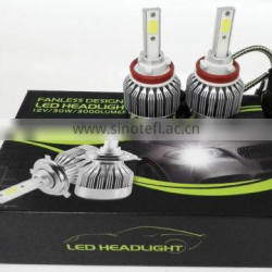 Black LED Headlight H4 High Beam+Low Beam+COB LED Good waterproof IP67 Sealed Beam auto led Headlamp 12v