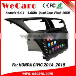 "Wecaro Direct factory 8"" android car dvd for honda civic Steering Wheel Control 2014 2015"