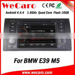 Wecaro Android 4.4.4 navigation system touch screen for bmw e39 car dvd radio gps mirror link 1995-2003