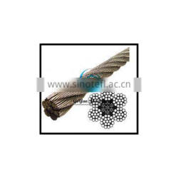 Stainless Steel Wire Rope 304 IWRC- 6x19 Class (Lineal Foot)
