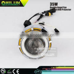 2.0'' inch Universal HID Motorbike Projector Lens Lights For Motorcycles with Double Angel Eyes Ring Quality Choice