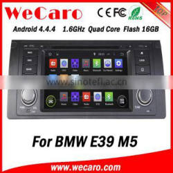 Wecaro Android 4.4.4 car dvd player HD for bmw e39 m5 car dvd gps Android bluetooth 1995-2003