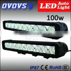 ovovs High power 100w off road led light bar 12inch for four wheel drive vehicle light bar