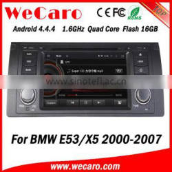Wecaro Android 4.4.4 navigation system 1 din special car dvd player for bmw x5 e53 gps car dvd mirror link tv tuner