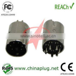 Mini Din 6P Male Connector Nickel Plated