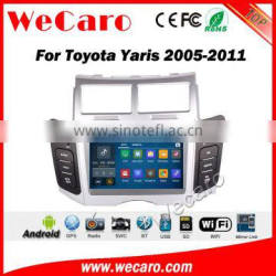 Wecaro WC-TY6221 android 5.1.1 car navigation system for toyota yaris sedan 2005-2011 car dvd player radio gps stereo silver