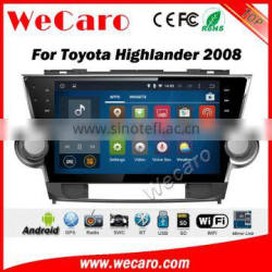 Wecaro WC-TH1012 10.2 inch android 4.4/5.1 car stereo for toyota highlander car dvd gps navigation system 2008 - 2013 Wifi RDS