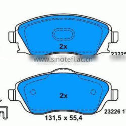 brake pad for OPEL 13046028572