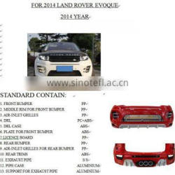 BODY KIT ACCESSORIES FOR LAND ROVER EVOQUE VIHICLE PARTS