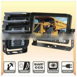 7inches Car Rearviw System with quad monitor