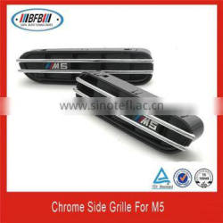 chrome front side vent hole frame trim cover insert for BMW M5