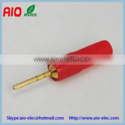 banana plug male connector 2mm,red plastic casing