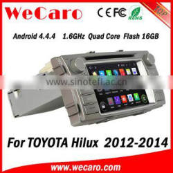 Wecaro Android 4.4.4 car multimedia system double din for toyota hilux car radio gps navigator audio system 2012 2013 2014