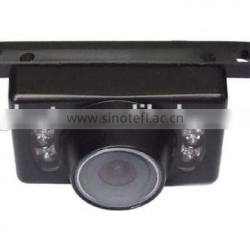 Wide angle rear view camera with guard line night vision