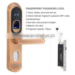 Touch screen electronic smart digital magnetic door lock with finger print