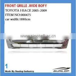 #000475 toyota hiace front grille for hiace commuter wide body high roof