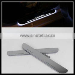 car accessory led door sill scuff plate for Mercedes Ben.z GLA X156 2012- 2015 CE-certificate led moving door scuff light
